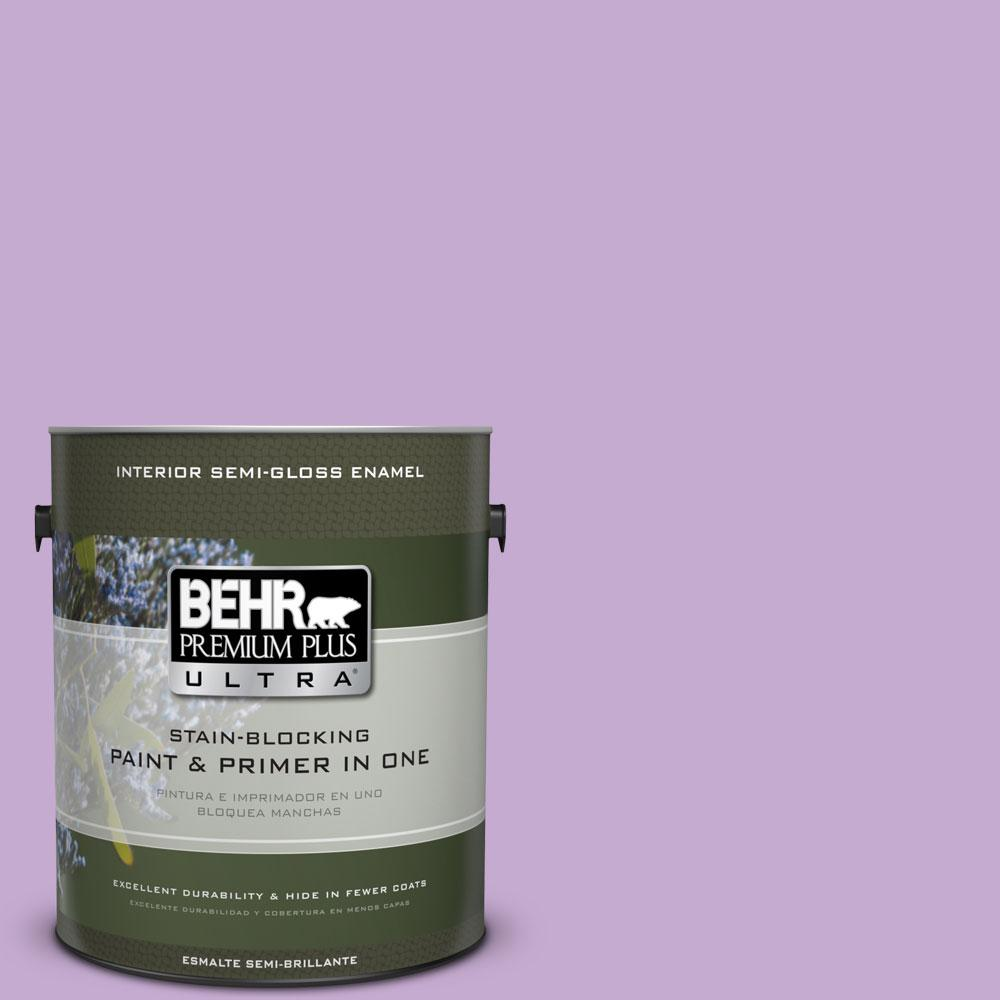 1-gal. #660B-4 Pale Orchid Semi-Gloss Enamel Interior Paint
