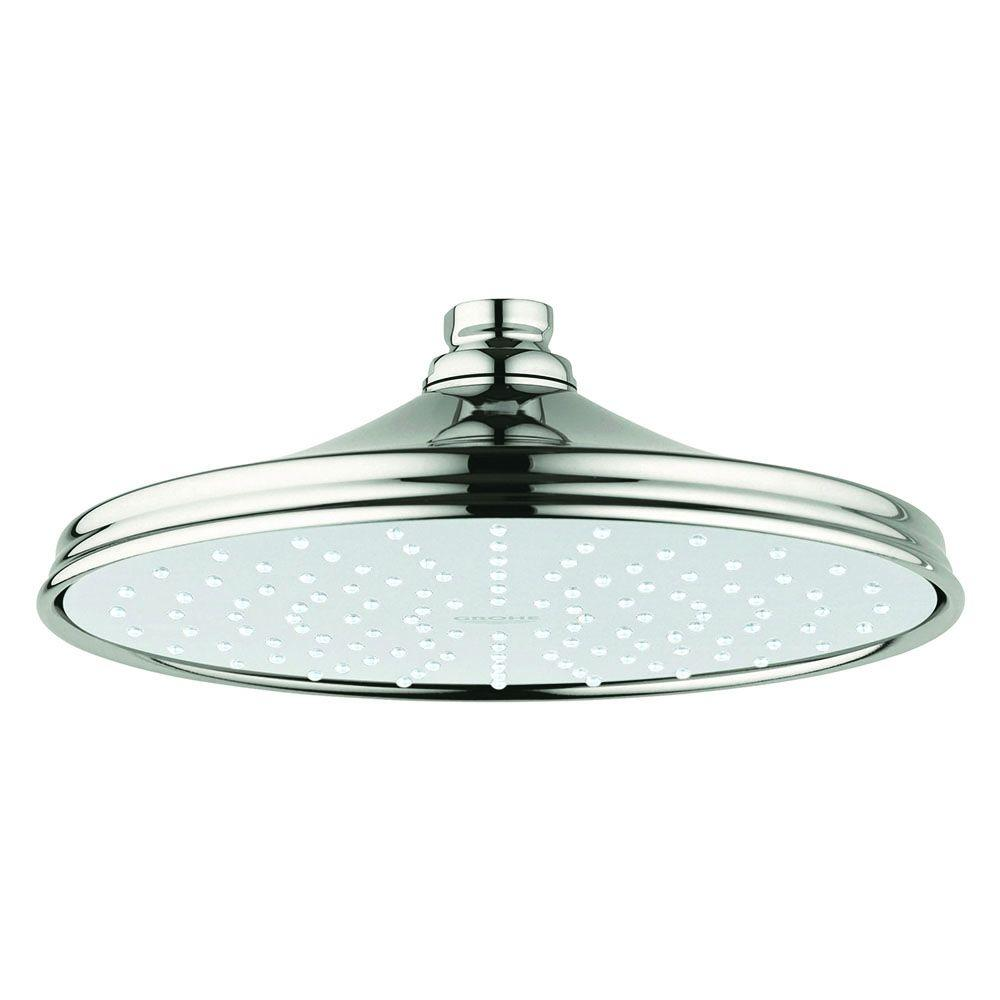 Rainshower Rustic 210 1-Spray 8 in. Fixed Showerhead in Polished Nickel