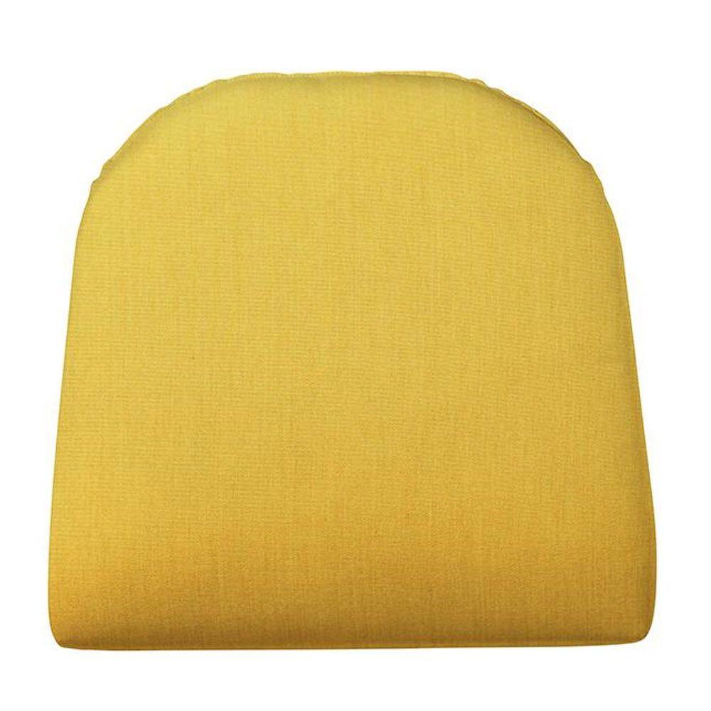 Home Decorators Collection Sunbrella Daffodil Contoured Outdoor Seat Cushion