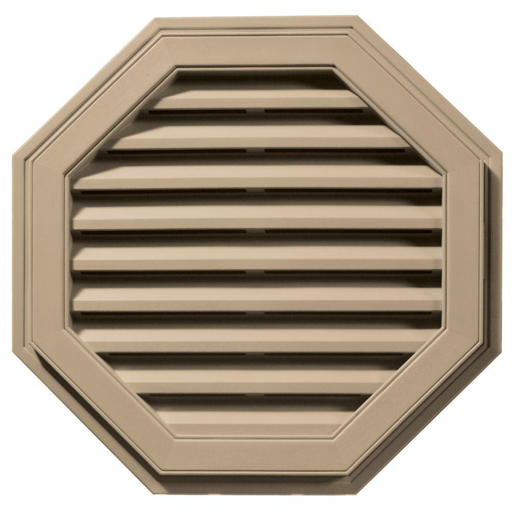 Builders Edge 27 in. Octagon Gable Vent in Tan