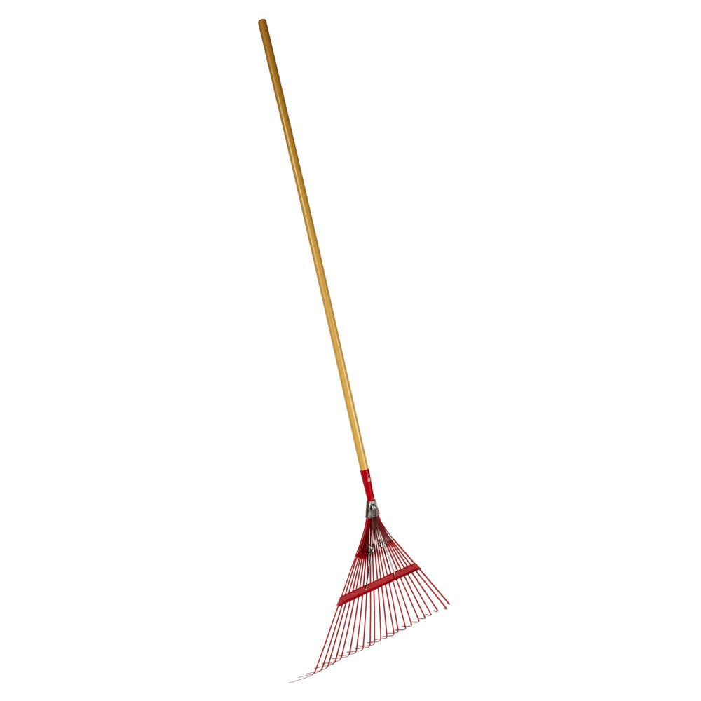 Emsco Cavex Series 22.5 in. 22-Tine Metal Leaf Rake