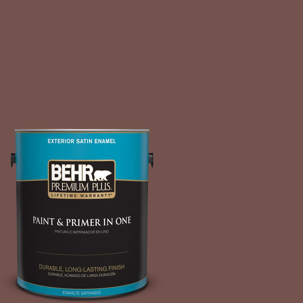 BEHR Premium Plus Home Decorators Collection 1-gal. #HDC-CL-12 Terrace Brown Satin Enamel Exterior Paint