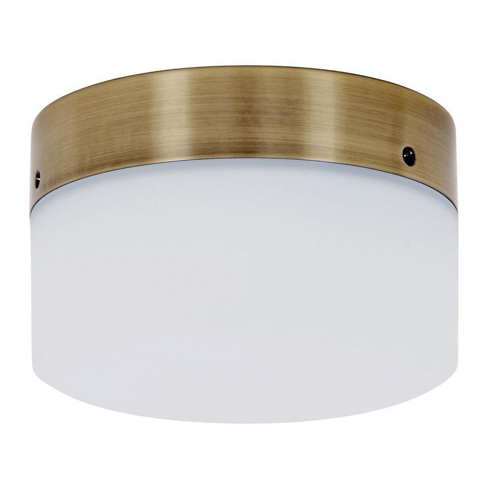 Climate Antique Brass Glass Ceiling Fan Bowl Light Kit
