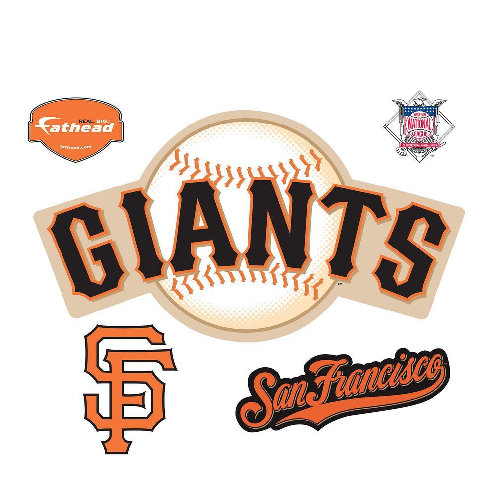 27 in. H x 50 in. W San Francisco Giants Logo Wall Mural