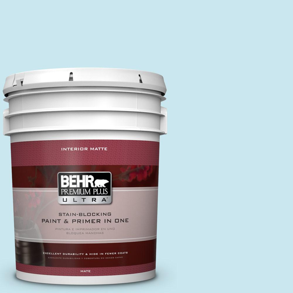 5 gal. #530C-2 Clear Water Flat/Matte Interior Paint