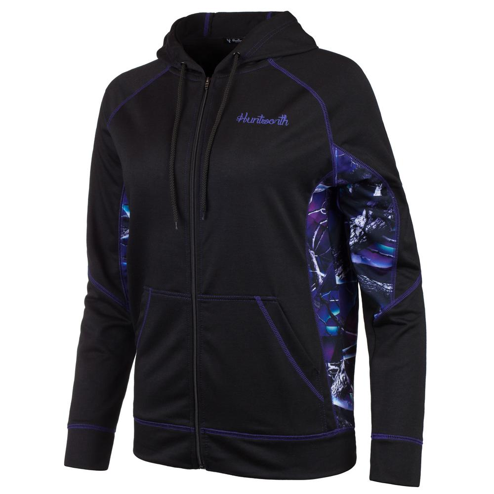 7c2325ba HUNTWORTH HUNTWORTH Women's Small Black / Ultraviolet Hooded Pullover