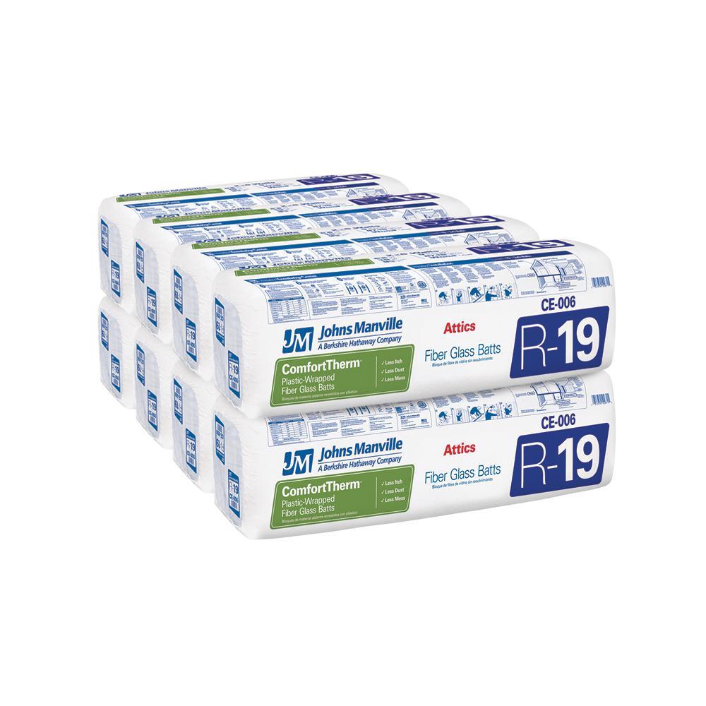 R-19 ComfortTherm Faced Fiberglass Insulation Batt 24 in. x 48 in. (8-Bags)