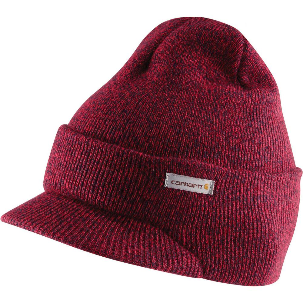 099805fb0 Carhartt Men's OFA Red/Navy Acrylic Knit Hat with Visor