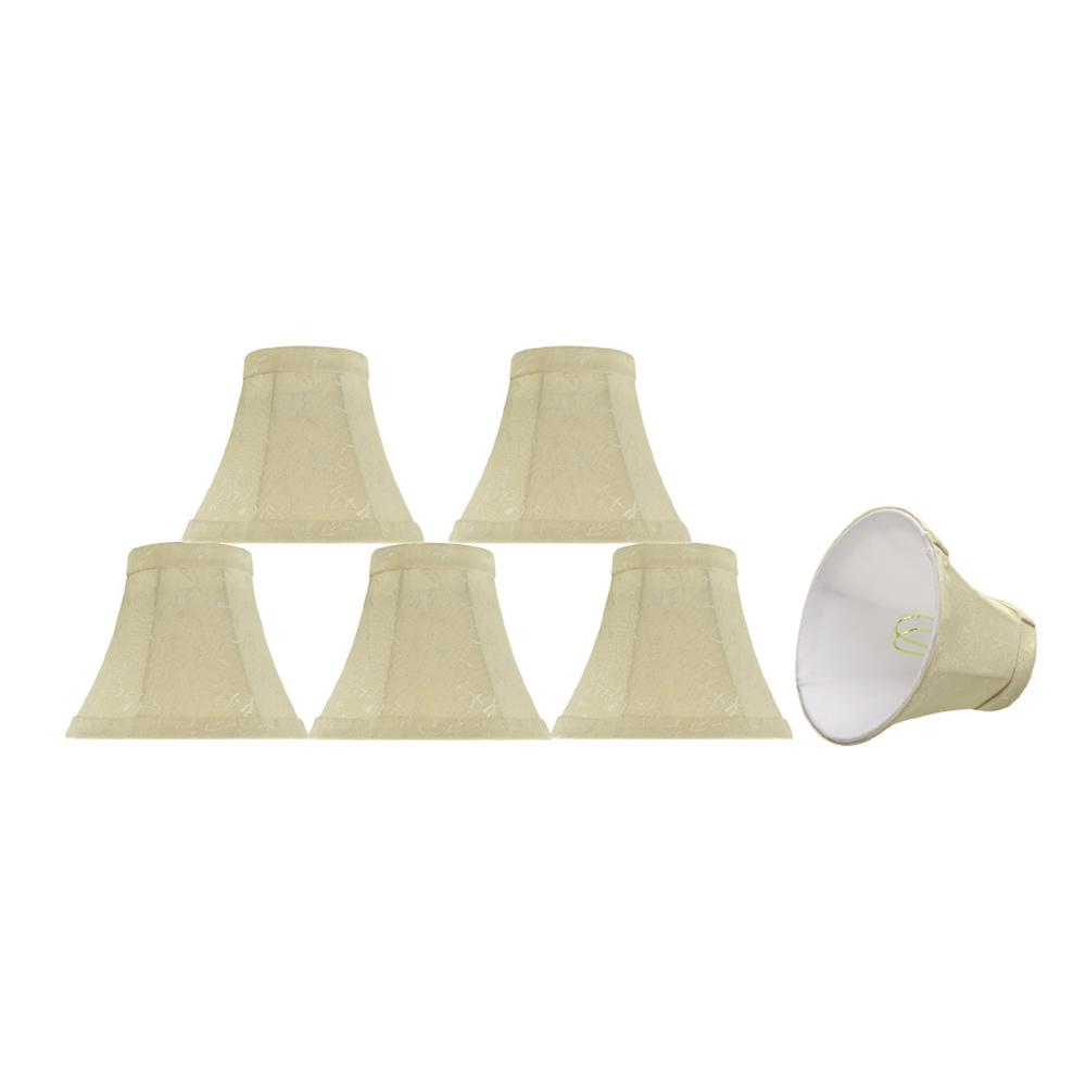 6 in. x 5 in. Butter Creme and Checkered Pattern Bell