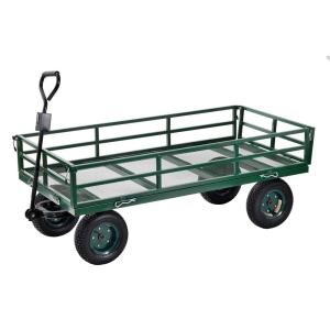 Deals on Muscle Rack 10 cu. ft. Industrial Strength Mesh Wire Utility Cart
