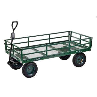 10 cu. ft. 31 in. W Industrial Strength Mesh Wire Utility Cart with Removable Sides, 1400 lb capacity