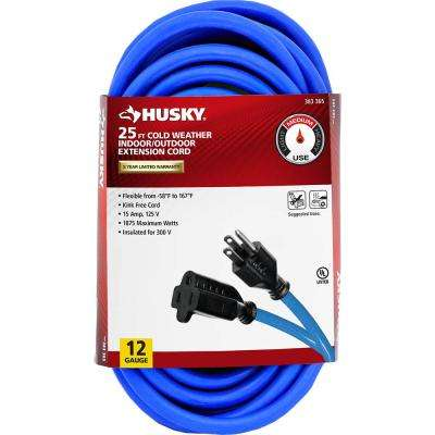 25 ft. 12/3 (-50°) Cold Weather Indoor/Outdoor Extension Cord, Blue