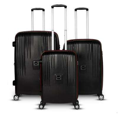 Gallo Collection 3-Piece Black Hardside Upright Luggage Set