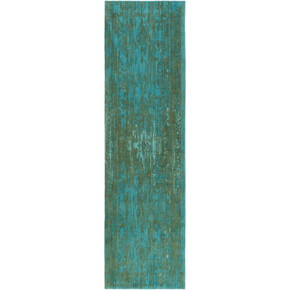 Elegant Maya Teal 2 ft. x 10 ft. Indoor Runner Rug