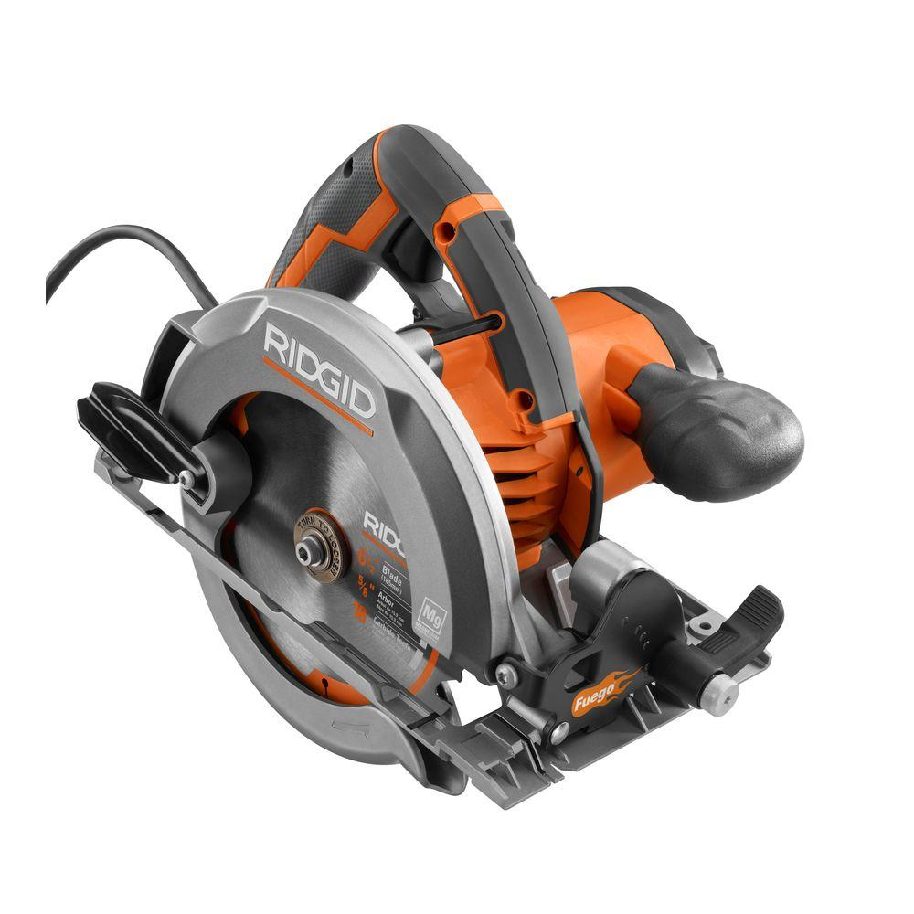 Ridgid fuego 12 amp 6 12 in magnesium compact framing circular magnesium compact framing circular saw r3204 the home depot greentooth Image collections