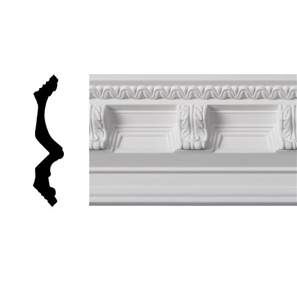 Lynea Molding Modillion Collection 6 in. x 8 ft. Polyurethane Crown Molding-DISCONTINUED