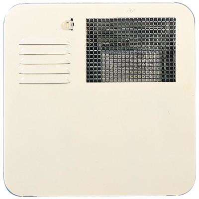 Radius Corner 4 and 6 Gallon Water Heater Door- Colonial White