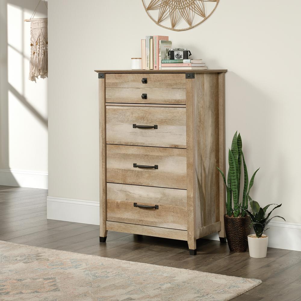 4-Drawer Lintel Oak Chest