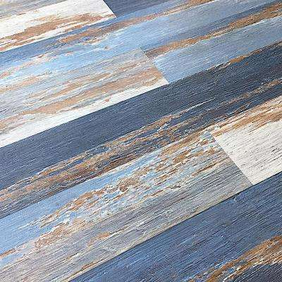 Colors Floor and Wall Old Blue Sea 6 in. x 36 in. Multi-Tonal Glue Down Luxury Vinyl Plank (2400 sq.ft./80 cases/pallet)