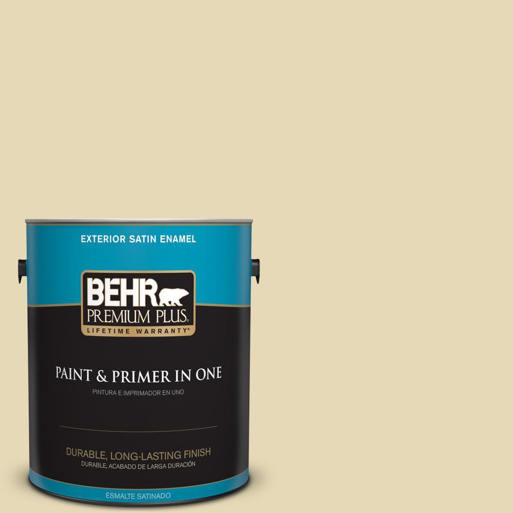 1 gal. #PPU8-13 Lemon Balm Satin Enamel Exterior Paint