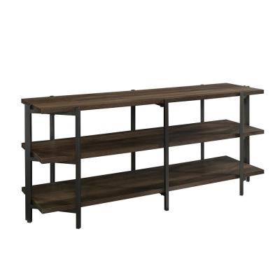 North Avenue 57 in. Smoked Oak Composite TV Stand Fits TVs Up to 55 in. with Open Storage