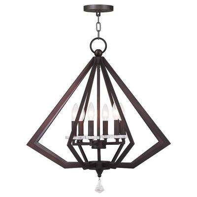 Diamond 6-Light Bronze Chandelier