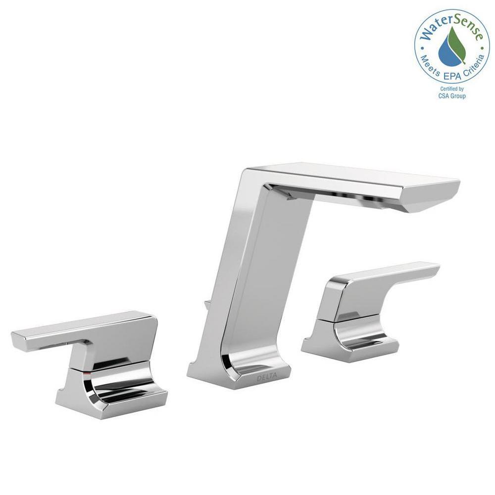 Delta 8 Bathroom Sink Faucets Delta Zella 8 in Widespread 2Handle ...