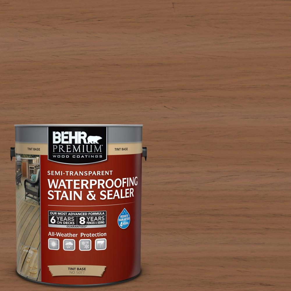 BEHR Premium 1-gal. #ST-152 Red Cedar Semi-Transparent Waterproofing Stain and Sealer