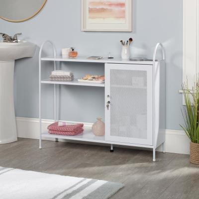HomeVisions White Accent Storage Cabinet