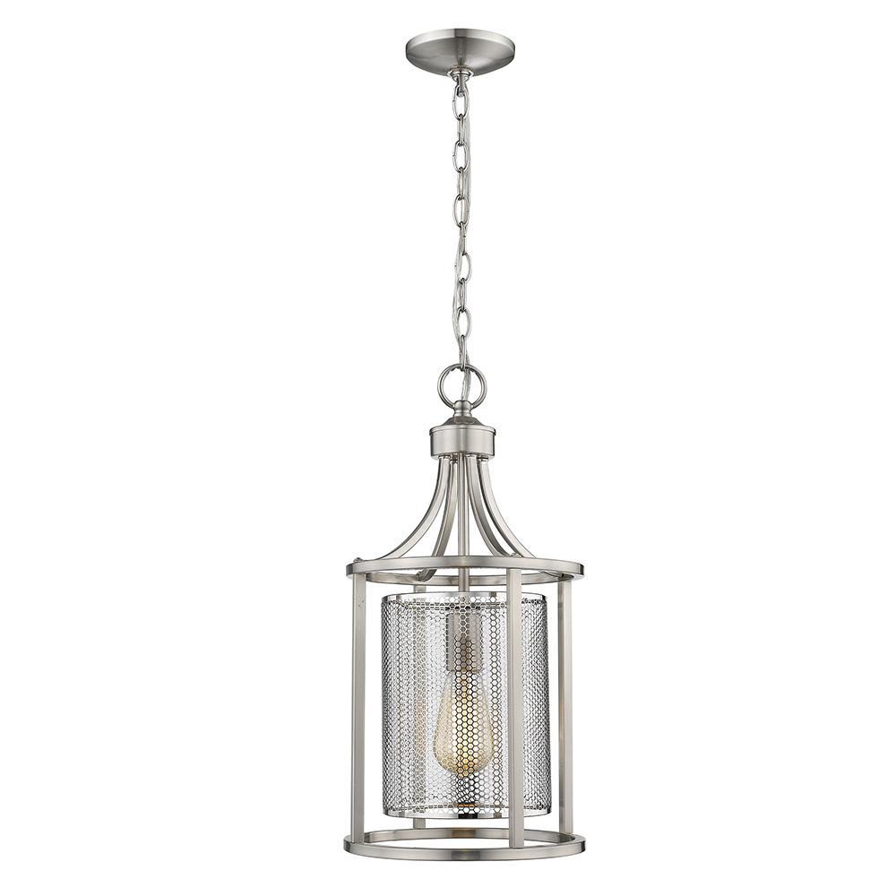 Verona 1-Light Brushed Nickel Pendant