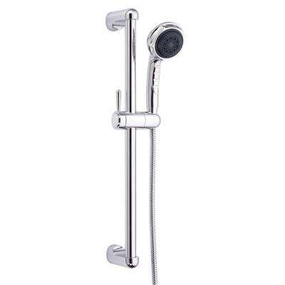 Nourish 3-Spray Hand Shower with 21-1/2 in. Slide Bar Assembly in Chrome