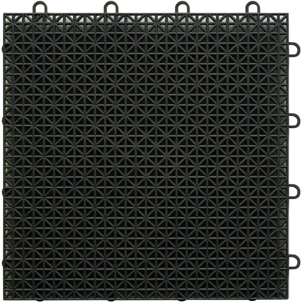 TopDeck Black Polypropylene 1ft. x 1ft. Deck Tile (40 - Case)