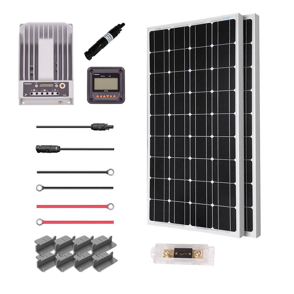 200-Watt 12-Volt Mono Solar Premium Kit for Off-Grid Solar System