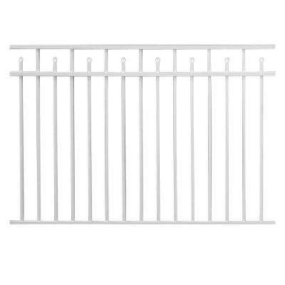 Brilliance Standard-Duty 4-1/2 ft. H x 6 ft. W White Aluminum 3-Rail Fence Panel
