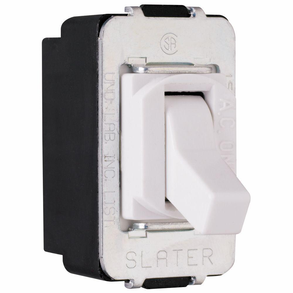 Pass /& Seymour 120//277-Volt 15-Amp 3 1Pole Decorator Combination Switch White