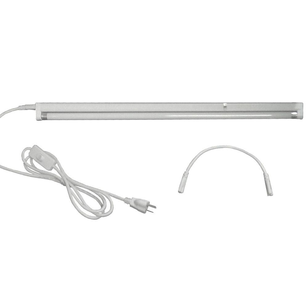 ViaVolt ViaVolt 2 ft. T5 1-Bulb High Output 24-Watt Fluorescent Grow Light Fixture, White