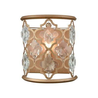 Armand 1-Light Matte Gold with Clear Crystal Sconce