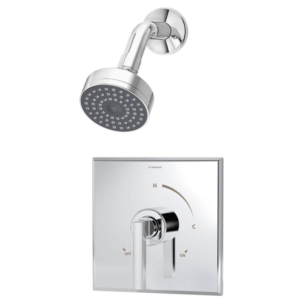Symmons Duro 1-Handle Shower Faucet Trim Only in Chrome (Valve Not ...