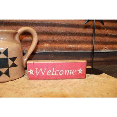 WELCOME Decorative Wood Sign