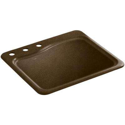 River Falls 22 in. x 25 in. Cast Iron Utility Sink in Black 'n Tan