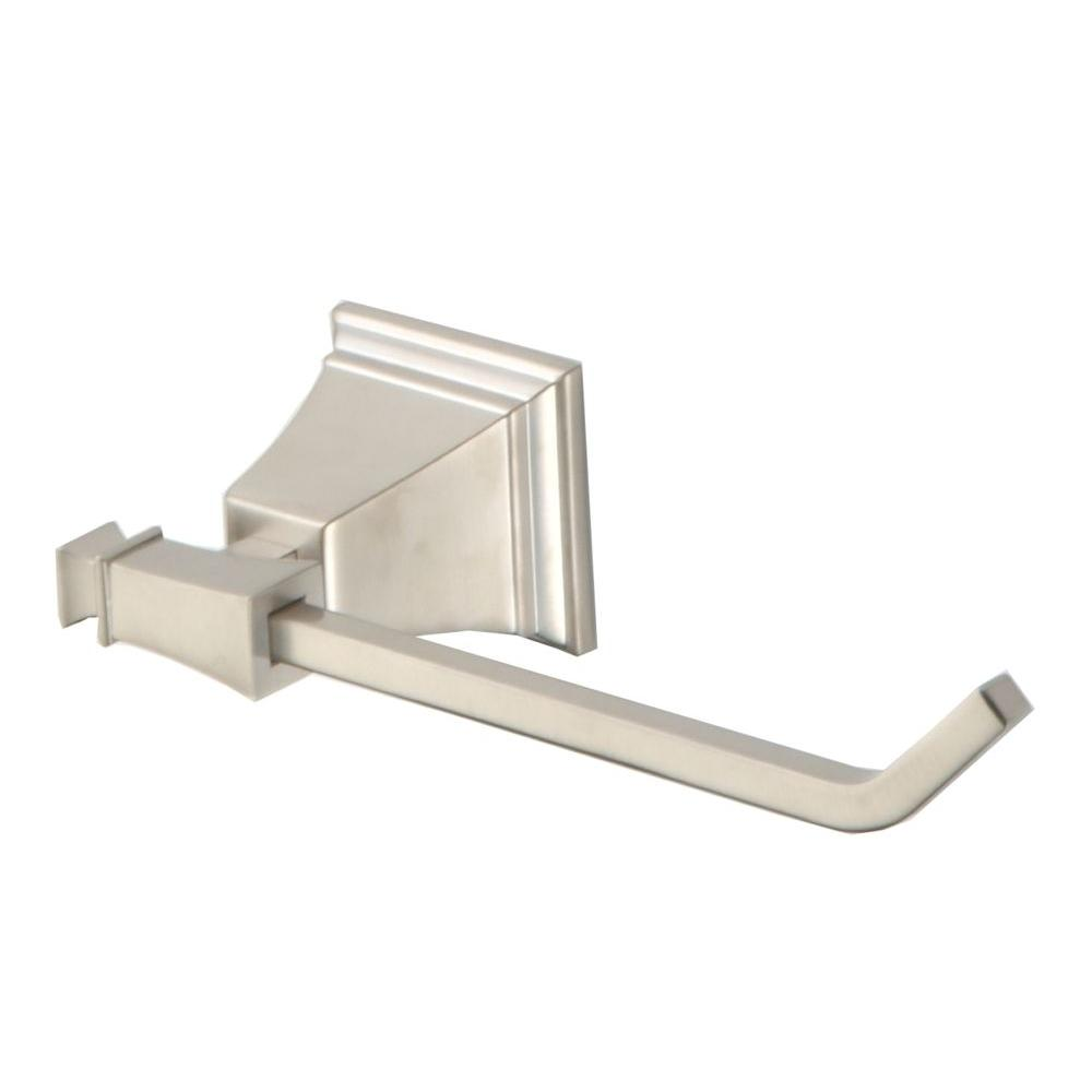 Pegasus Exhibit Single Post Toilet Paper Holder in Brushed Nickel