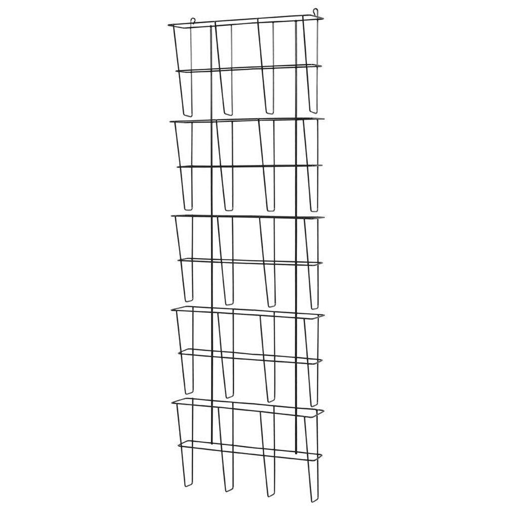 Buddy Products Wire Ware 5-Pocket Letter Size Literature Rack