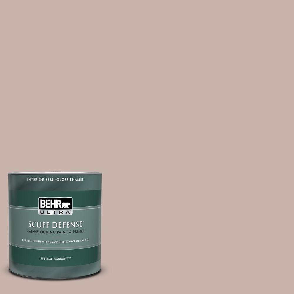 Behr Ultra 1 Qt Ppf 10 Balcony Rose Extra Durable Semi Gloss Enamel Interior Paint And Primer In One 375004 The Home Depot