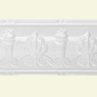 27 in. Superior Tin Molding in Gloss White (2-Pack)