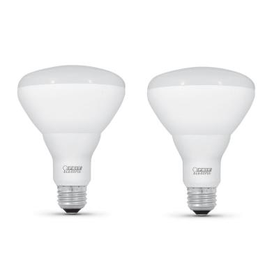 65-Watt Equivalent BR40 Dimmable CEC Title 20 Compliant LED ENERGY STAR 90+ Flood Light Bulb, Bright White (2-Pack)