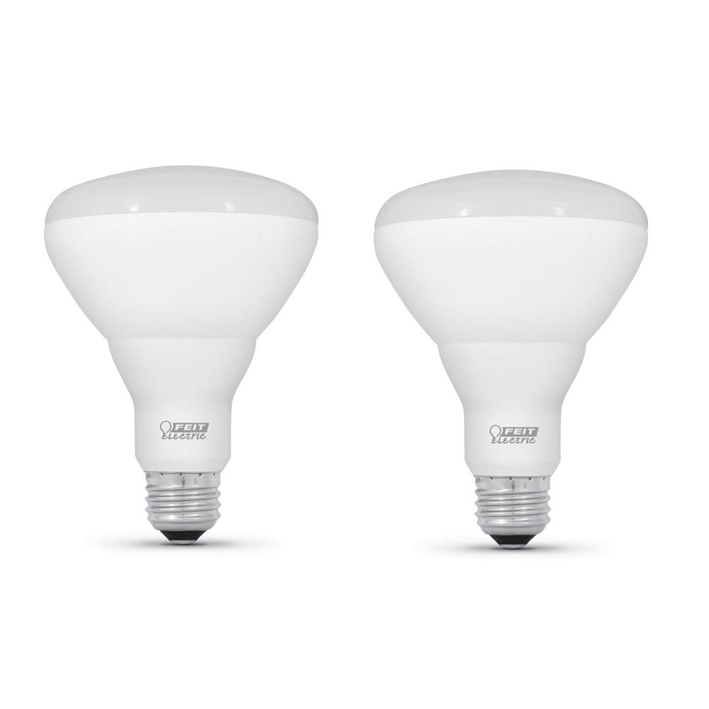 Feit Electric 65-Watt Equivalent BR40 Dimmable CEC Title 20 Compliant LED ENERGY STAR 90+ Flood Light Bulb, Bright White (2-Pack)