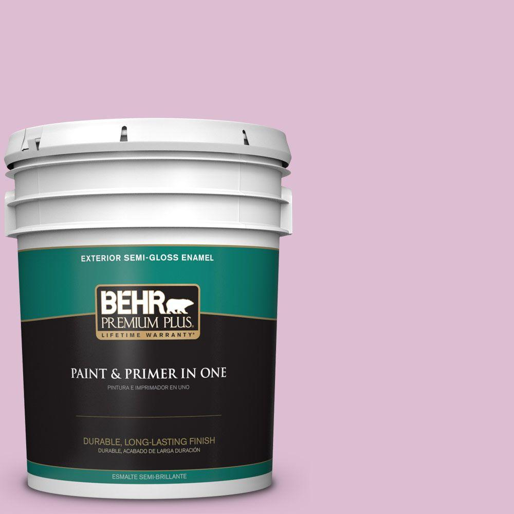 5-gal. #690C-3 Delicate Bloom Semi-Gloss Enamel Exterior Paint