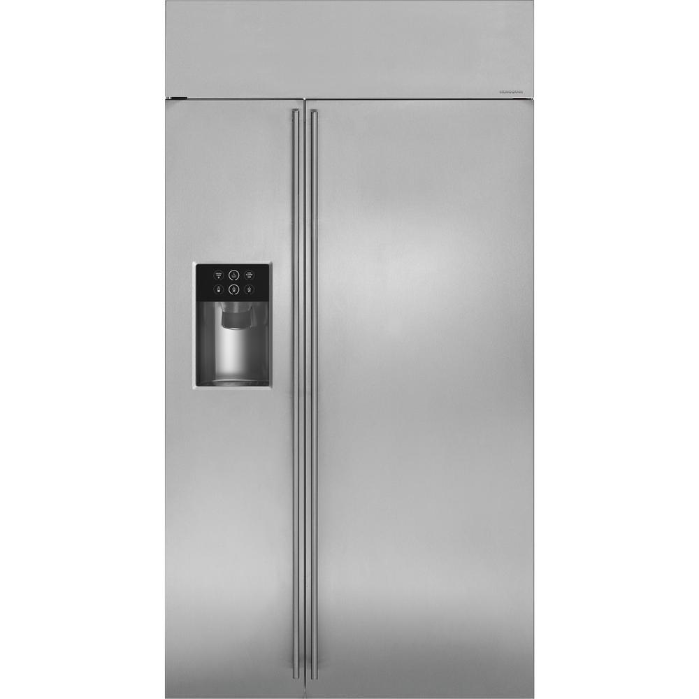 42 in. W 25.5 cu. ft. Built-In Side-by-Side Refrigerator with Dispenser