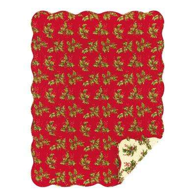 Holly Red Throw