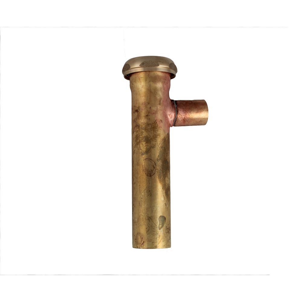 1-1/4 in. x 6 in. Brass Branch Tailpiece, 22-Gauge